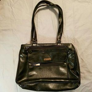 Black Leather Look Purse